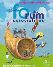 Affiche du forum des associations de Saint Pierre des Corps